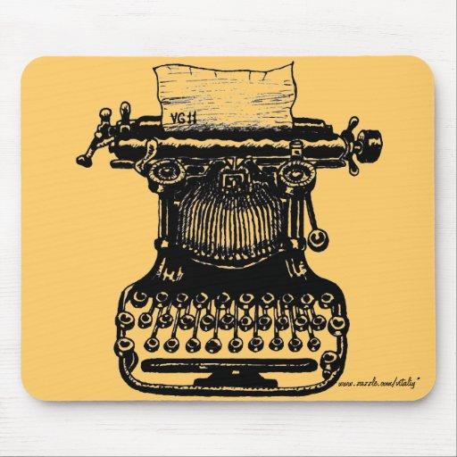 Vintage typewriter graphic art mousepad design