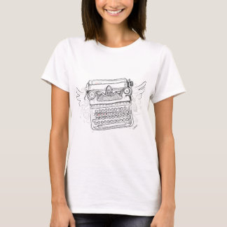 Vintage Typewriter, Hand Drawn, Gifts for Writers T-Shirt