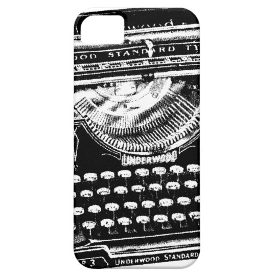 Vintage Typewriter Illustration Case For The iPhone 5