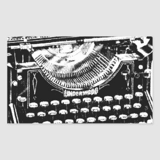 Vintage Typewriter Illustration Stickers