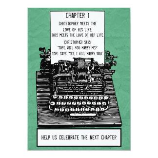 Vintage Typewriter Invitation