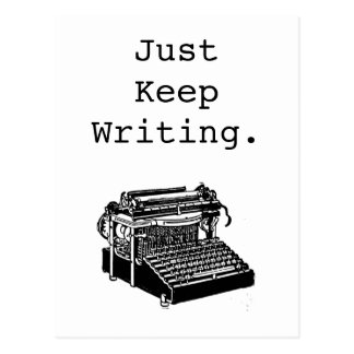 Vintage Typewriter Just Keep Writing Postcard