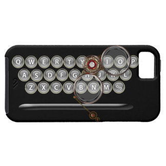 vintage typewriter keyboard and steampunk glasses iPhone 5 covers