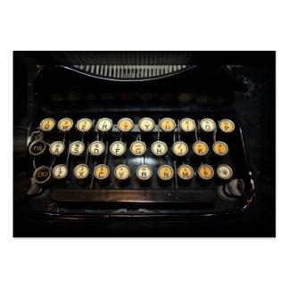 Vintage Typewriter Keyboard Business Card Template