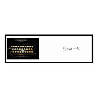 Vintage Typewriter Keyboard Business Cards