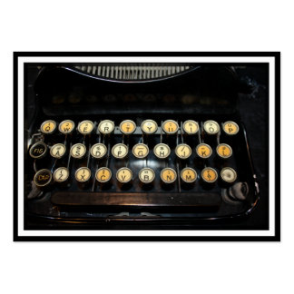 Vintage Typewriter Keyboard Pack Of Chubby Business Cards