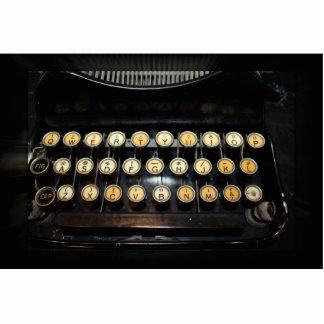 Vintage Typewriter Keyboard Acrylic Cut Out