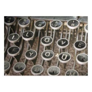 "Vintage Typewriter Keys ""I Love You"" Business Card Template"