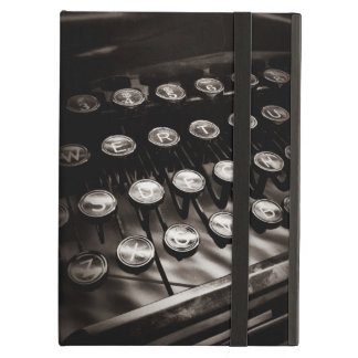 Vintage Typewriter Keys in Black and White iPad Air Case