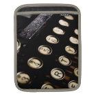 Vintage Typewriter Keys iPad Sleeve