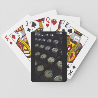 Vintage Typewriter Keys Playing Cards, Index faces Playing Cards