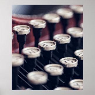 Vintage Typewriter Keys Poster