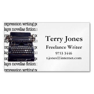 Vintage Typewriter Magnetic Business Card