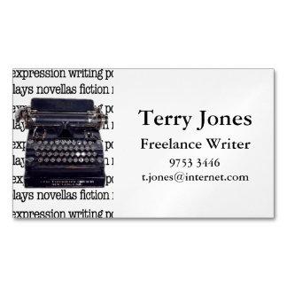 Vintage Typewriter Magnetic Business Cards