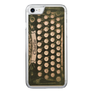 Vintage Typewriter Maple iPhone 6 Wood Carved iPhone 7 Case