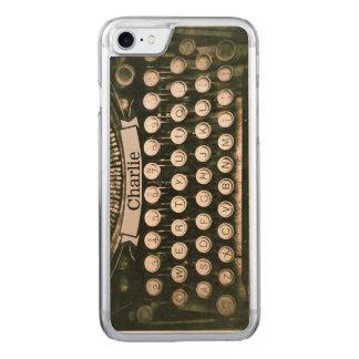 Vintage Typewriter Maple iPhone 6 Wood Carved iPhone 8/7 Case