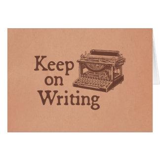Vintage Typewriter Motivation Keep on Writing Card
