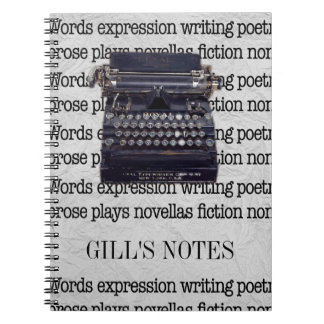Vintage Typewriter Notebook