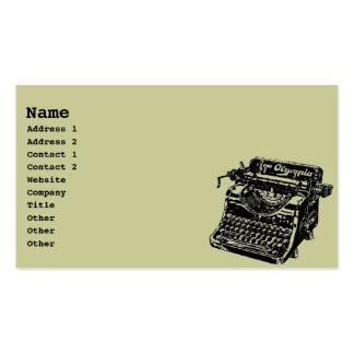 Vintage Typewriter Pack Of Standard Business Cards