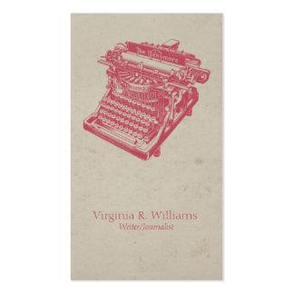 Vintage Typewriter Pink Business Cards