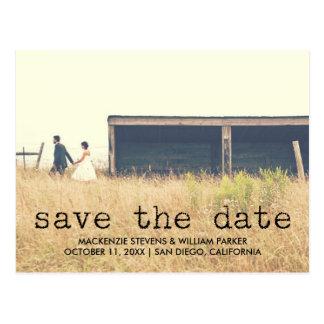 Vintage Typewriter Text Photo Save the Date Postcard