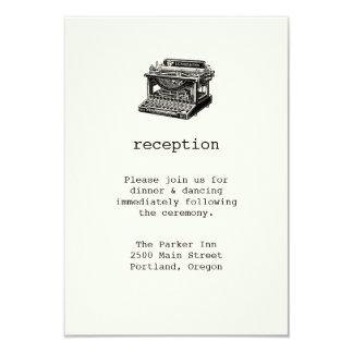 Vintage Typewriter Wedding Reception Card 9 Cm X 13 Cm Invitation Card