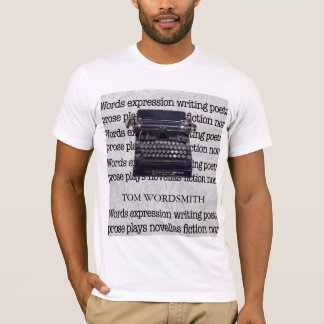 Vintage Typewriter with Typed Words T-Shirt