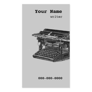vintage typewriter writer - blogger business card