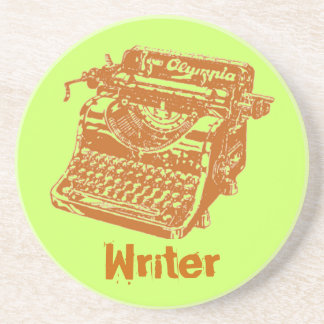 "Vintage Typewriter ""Writer"" Beverage Coasters"