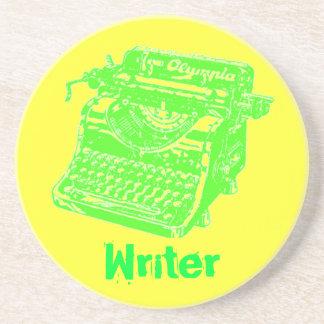 "Vintage Typewriter ""Writer"" Drink Coasters"