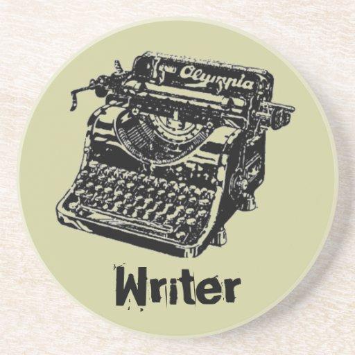 """Vintage Typewriter """"Writer"""" Coasters"""