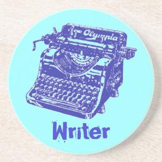 """Vintage Typewriter """"Writer"""" Beverage Coaster"""