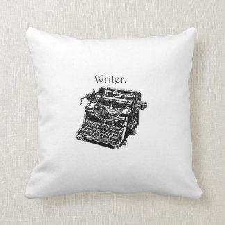 Vintage Typewriter Writer Ink Drawing Sketch Throw Pillow