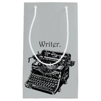 Vintage Typewriter Writer Ink Drawing Sketch Small Gift Bag