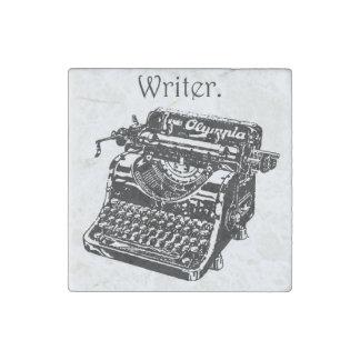 Vintage Typewriter Writer Ink Drawing Sketch Stone Magnet