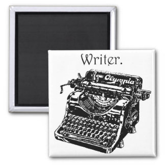 Vintage Typewriter Writer Ink Drawing Sketch Magnet