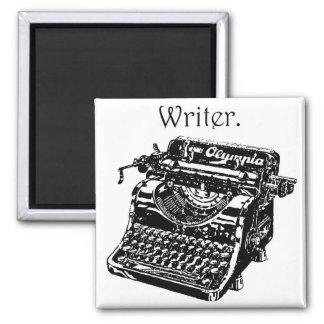 Vintage Typewriter Writer Ink Drawing Sketch Square Magnet