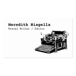 Vintage Typewriter Writer s Business Card