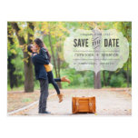 Vintage Typewritten Label | Save the Date Postcard