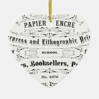 vintage typography advert booksellers christmas ornament
