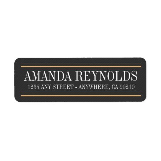 Vintage Typography Art Deco Wedding Address Labels