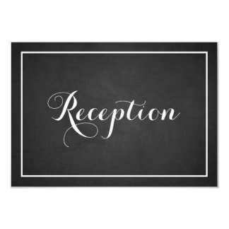 Vintage Typography Chalkboard Reception Card 9 Cm X 13 Cm Invitation Card