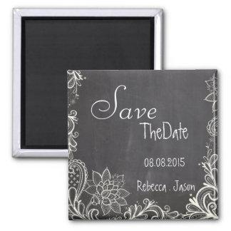 vintage typography  Chalkboard save the date Refrigerator Magnet