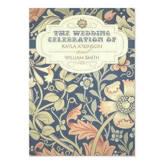 vintage typography colorful wedding invitations