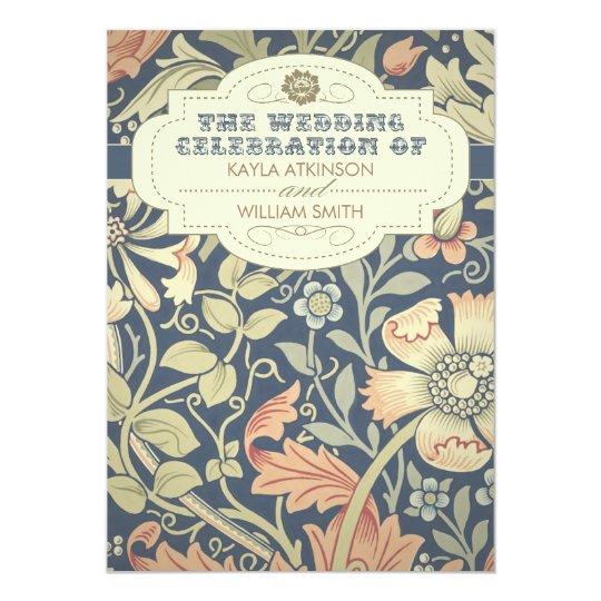 vintage typography colourful wedding invitations