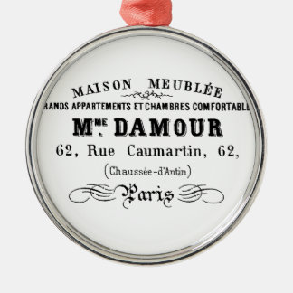 Vintage typography design M'Damour Christmas Ornament