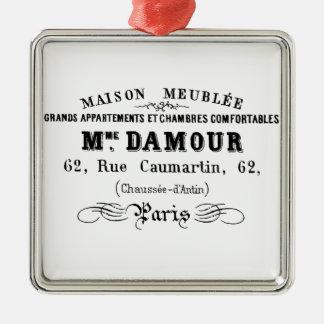 Vintage typography design M'Damour Christmas Ornament