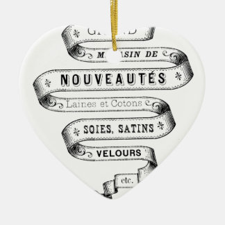 vintage typography fabric design christmas ornament