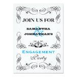 Vintage typography flourish swirl party personalized invitations
