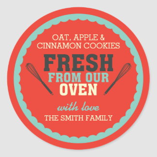 Vintage Typography Food Gift Sticker